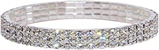 Kiokioa Charm Anklets for Women Crystal Rhinestone Stretch Tennis Ankle Elastic Bracelet