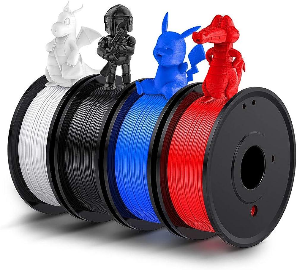 Labists filamento pla 1.75 per stampante 3d pla 1kg,4 bobine diversi colori IT-FILAMENTI