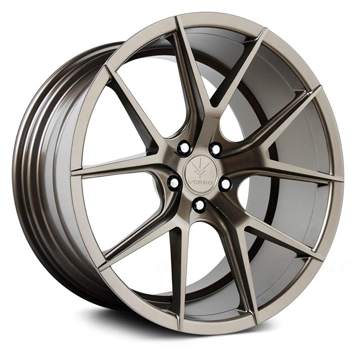 Verde Custom Wheels Axis Gloss Bronze Wheel with Painted Finish (22 x 9. inches /5 x 120 mm, 20 mm Offset)