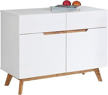 IDIMEX Buffet Tibor Style scandinave Design Vintage Nordique Commode bahut vaisselier avec 2 tiroirs et 2 Portes battantes, e