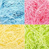 SZWL Papel de seda triturado, 400 gramos de papel de rafia multicolor y filamentos triturados confeti para envolver regalos y rellenar la cesta