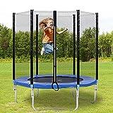 Trampolin Set, Rundes Ø 183 Gartentrampolin, Kindertrampolin mit Sicherheitsnetz, GS-geprüft, UV-beständig, Witterungsbeständig, bis zu 80kg (6 FT)