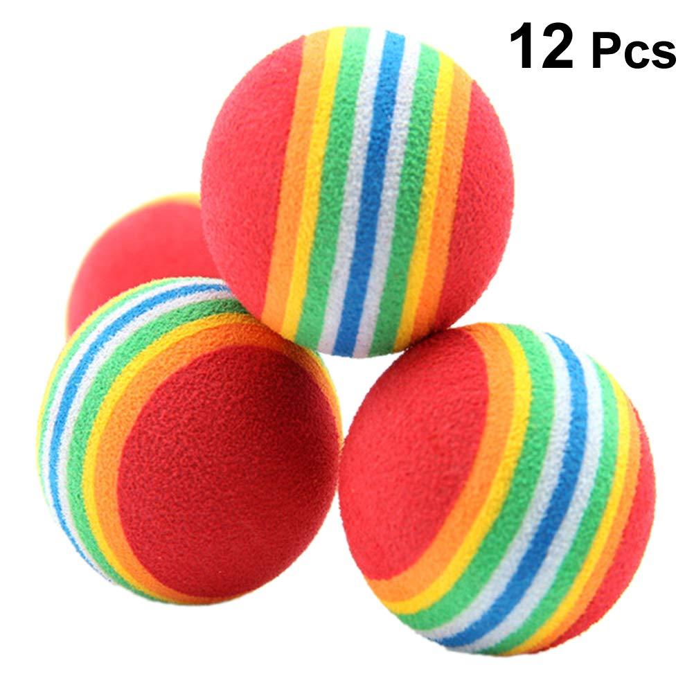 popetpop 12pcs bola de Multicolor de juguetes de gato, bola ...