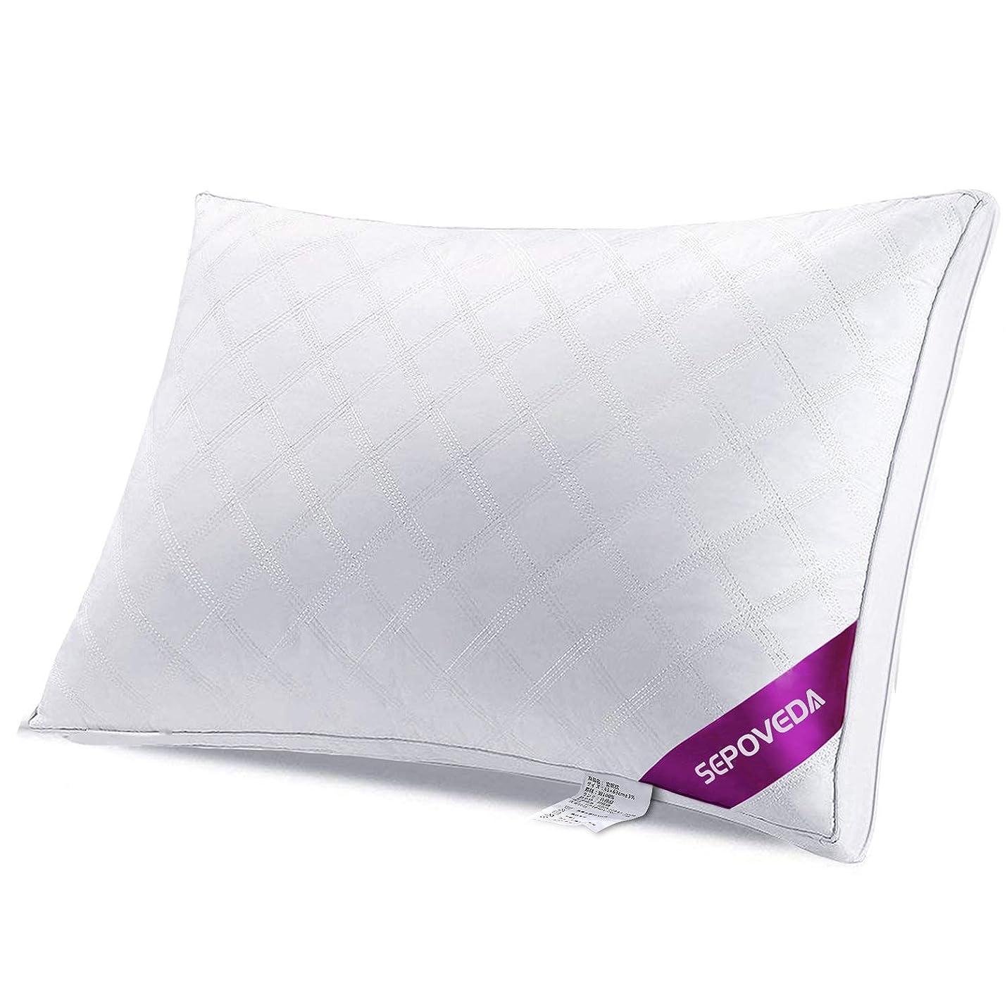 角度拍手する発動機Sepoveda 枕 安眠 人気 肩こり 快眠 高反発 洗える 横向き まくら 通気性抜群 ホワイト 頭痛改善 頚椎サポート ピロー ジャストサイズ