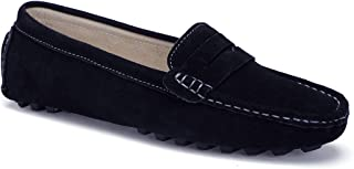 FashionOstyle Women's Casual Driving Penny Loafers Flat Boat Shoes Moccasins Slip On Leather