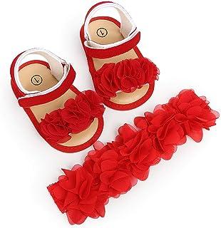 a4f620497c2 2019 Verano 2pcs Sandalias De Suela Blanda Antideslizante Para Bebé Niños  Primeros Pasos + Diadema Zapatillas
