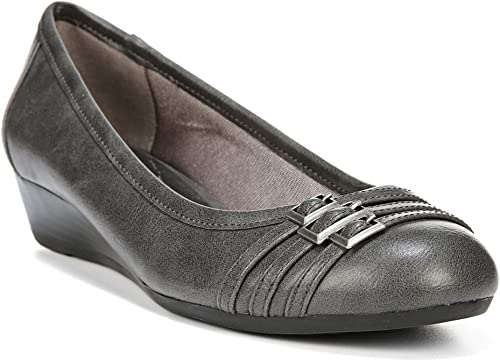 LifeStride Wohommes Farrow Slip On Wedge,Dark gris Synthetic,US 6 M