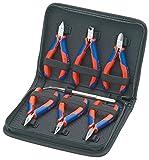 KNIPEX 00 20 16 Elektronikzangen-Set für Arbeiten an elektronischen Bauteilen