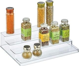 mDesign présentoir à épices à 4 niveaux – étagère à épices en plastique – organiseur de cuisine pour épices, condiments ou...