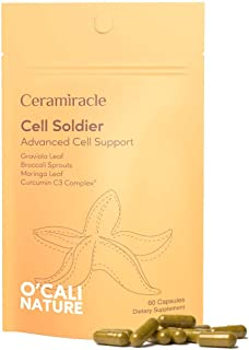Ceramiracle O'Cali Nature Cell Solider Supplement - Antioxidant, Cell Support - Graviola (Soursop Leaf), Curcumin C3, Mori...