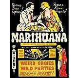 Political Drug Abuse Marijuana Weed Weird Art Print Poster