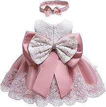 MYRISAM Baby Girls 1st/2nd Birthday Dress Bowknot Flower Lace Dresses Wedding Pageant Christening Baptism Tutu Gown