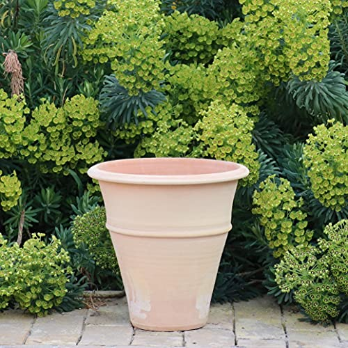 Pot de fleurs en céramique de Crète fait à la main en terre cuite véritable, résistant au gel, différentes tailles 30-80 cm, Yucca