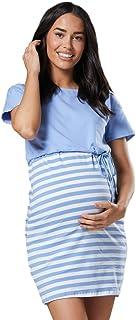 HAPPY MAMA Damen Umstands Stillen Gekn/öpft Krankenhaus-Nachthemd 559