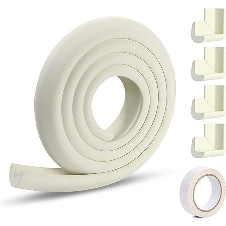 Kits de protections de coins de s/écurit/é pour b/éb/é 6 m Protection des bords de meubles pour b/éb/és et enfants Ruban adh/ésif double face 4 protections de coins de 7 m
