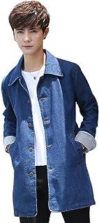 HAPPYJP コート メンズ デニムコートプリングコート ステンカラーコート 春コート デニムショップコート コート デニム