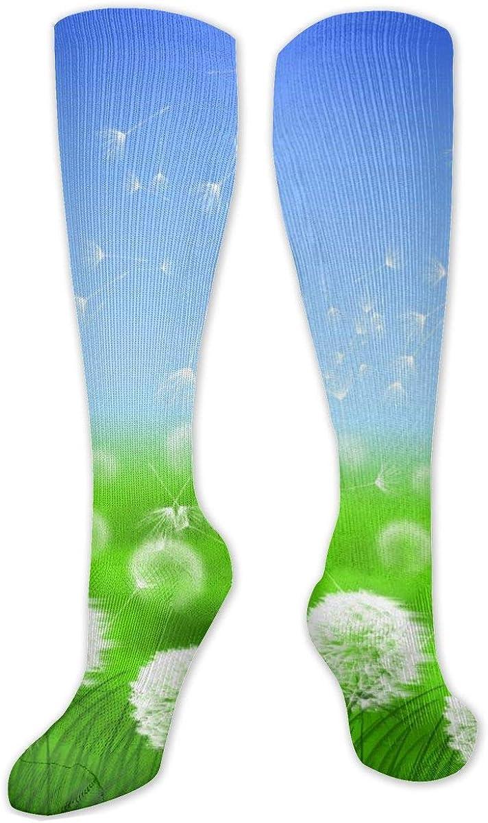 Dandelion Knee High Socks Leg Warmer Dresses Long Boot Stockings For Womens Cosplay Daily Wear