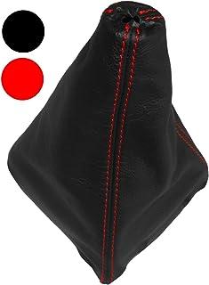 AERZETIX   Schaltsack Schalthebelmanschetten Schalthebelmanschette Schaltbetatigungs   Schwarze Farbe 100% Leder   Nähte: Roten