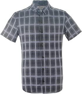 Men's Button Down Casual Short Sleeve Shirts Plaid Checkered Shirt