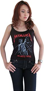 B&S Womens Metallica and Justice for All Rock Band Concert Tour Tank Top T-Shirt