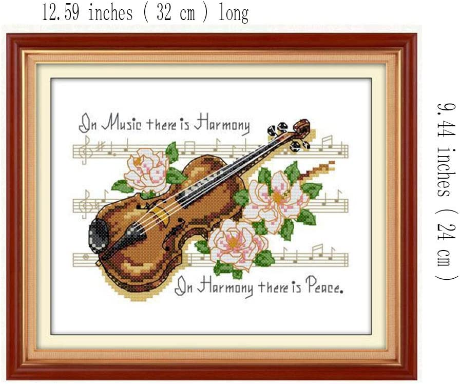 Ci-ONE Cross Stitch Stamped Kits Quilt Pre-Printed Cross-Stitching Patterns for Beginner Kids Adults DIY Hand Embroidery Kits