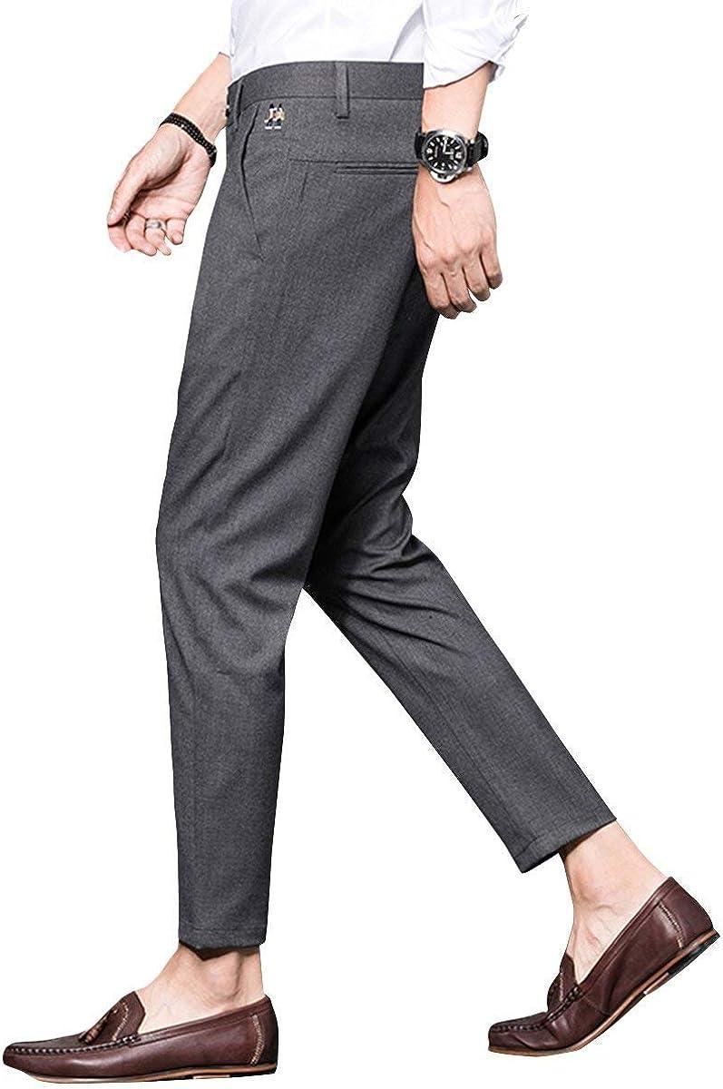 Willlly Pantalons Habillés Hommes Pantalons Raccourcis Fit Chic Slim Casual Business Confortable À La Mode Loisirs Style Pantalons Longs Pantalons D'Été Pantalon Grau