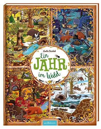 Ein Jahr im Wald: Bilderbuch Tiere und Jahreszeiten im Wald, ab 3 Jahren