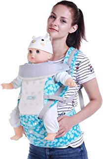 GABESY 3D Mutilfunction Baby Carrier Seat - Safety Certified Front Facing Back Pain Relief Soft Carrier (Ergonomic M Posit...