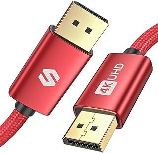 Cable DisplayPort 2m, Cable DP Admite 4K@60Hz, 2K@144Hz, 2K@165Hz, 3D, Compatible con FreeSync y G-Sync, Silkland Cable Di...
