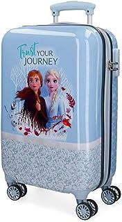 Disney Frozen La Reine des Neiges Spirits of Nature Valise Trolley Cabine Bleu 37x55x20 cms Rigide ABS Serrure à combinais...