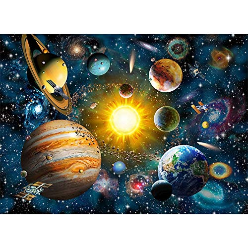 WLH- Jigsaw Puzzles - Space Walking - 1000 stukjes puzzel Set, Adult Space Puzzle & Fun Fact Poster, Premium recyclebare materialen (Color : A)