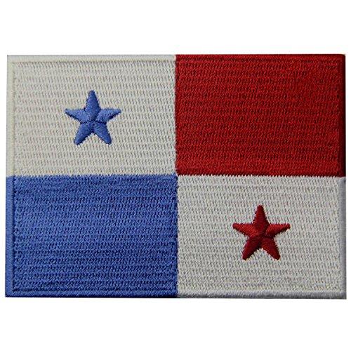 Panama-Flagge besticktes Emblem zum Aufbügeln oder Aufnähen.