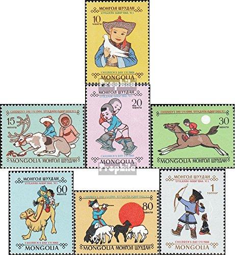 Mongolie 445-451 (complète.Edition.) 1966 Jour de Kinde (Timbres pour Les collectionneurs)