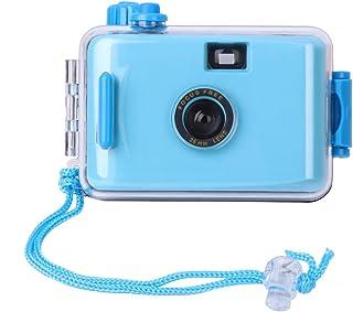 Shoresu 水中防水Lomoカメラミニキュート35mmフィルム ハウジングケース付き イエロー ブルー 8QQ100076-BL_TFE