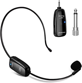 Wireless Microphone Headset, UHF Wireless Mic Headset and Handheld 2 in 1, 160 ft Range for Voice Amplifier, Stage Speaker...