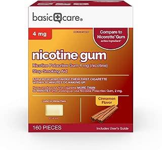 Basic Care Nicotine Polacrilex Gum, 4 Mg (Nicotine), Cinnamon Flavor, 160 Count