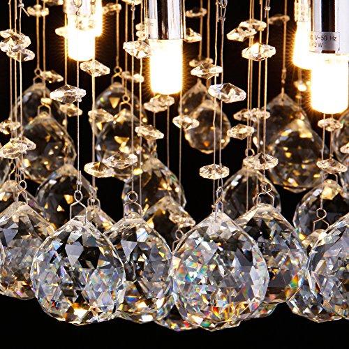 CCLIFE Modern Kristall Kronleuchter LED G9 GU10 Deckenleuchte Pendelleuchte Crystal Lüster, Farbe:G9 - 4
