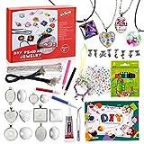 EFO SHM Bastelset Kinder Basteln Ketten Selber Machen Schmuckset Armbänder Anhänger Halsketten für Mädchen Jungs und Erwachsene, Großartig als Geschenk
