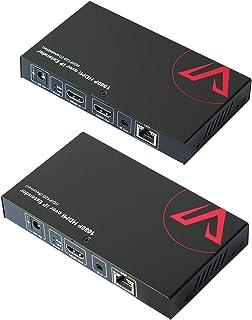 مجموعة موسع HDMI عبر IP بطول 1080p@60Hz ووصلة HDMI محلية وإضاءة IR (1 إلى 1 حتى 395 قدم (120 متر) أو 1 إلى العديد من HDMI ...