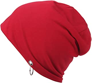 YiyiLai Unisex Striped Knit Warm Slouchy Leisure Beanies Hats Skull Cap