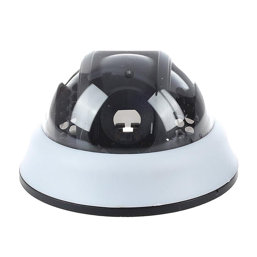 狂人トライアスロン哺乳類Gaoominy 赤色LED点滅 監視カメラ 防犯用 ダミーカメラ ドーム型 偽装カメラ (ホワイト)