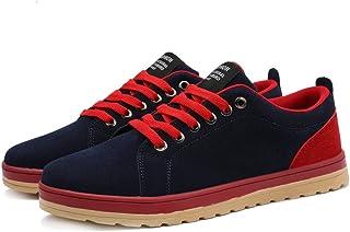 [QIFENGDIANZI] 紳士靴 メンズ デッキシューズ カジュアルシューズ スニーカー 四季 コンフォート ローカット 履き心地よい レースアップ シンプル スリッポン フラット オシャレ 通気性良い 耐久性 2色