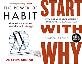 The Power of Habit: Why We Do What We Do, and How to Change+Start With Why(Set of 2books)