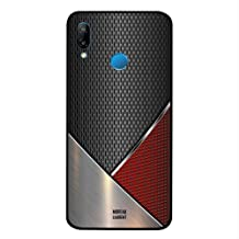 Huawei Nova 3E Case Cover Red & Grey Steal Pattern, Moreau Laurent Premium Phone Covers & Cases Design