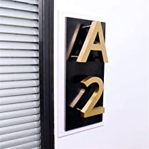 LHongBin-Deur huisnummer, 0-9 ABC Waterdicht Home Hotel Deurplaten Roestvrij Staal Teken Adres, Metalen 3D moderne Huisnum...