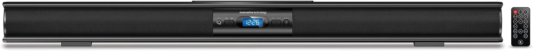 Innovative Technology Low-profile 37-Inch Bluetooth Stereo Soundbar, Black