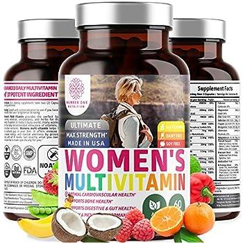 N1 Nutrition Women s Daily Multivitamin Premium Multimineral Supplement [37 Vitamins & Minerals] Magnesium Biotin Zinc Chromium Calcium Copper Antioxidants  60 Caps