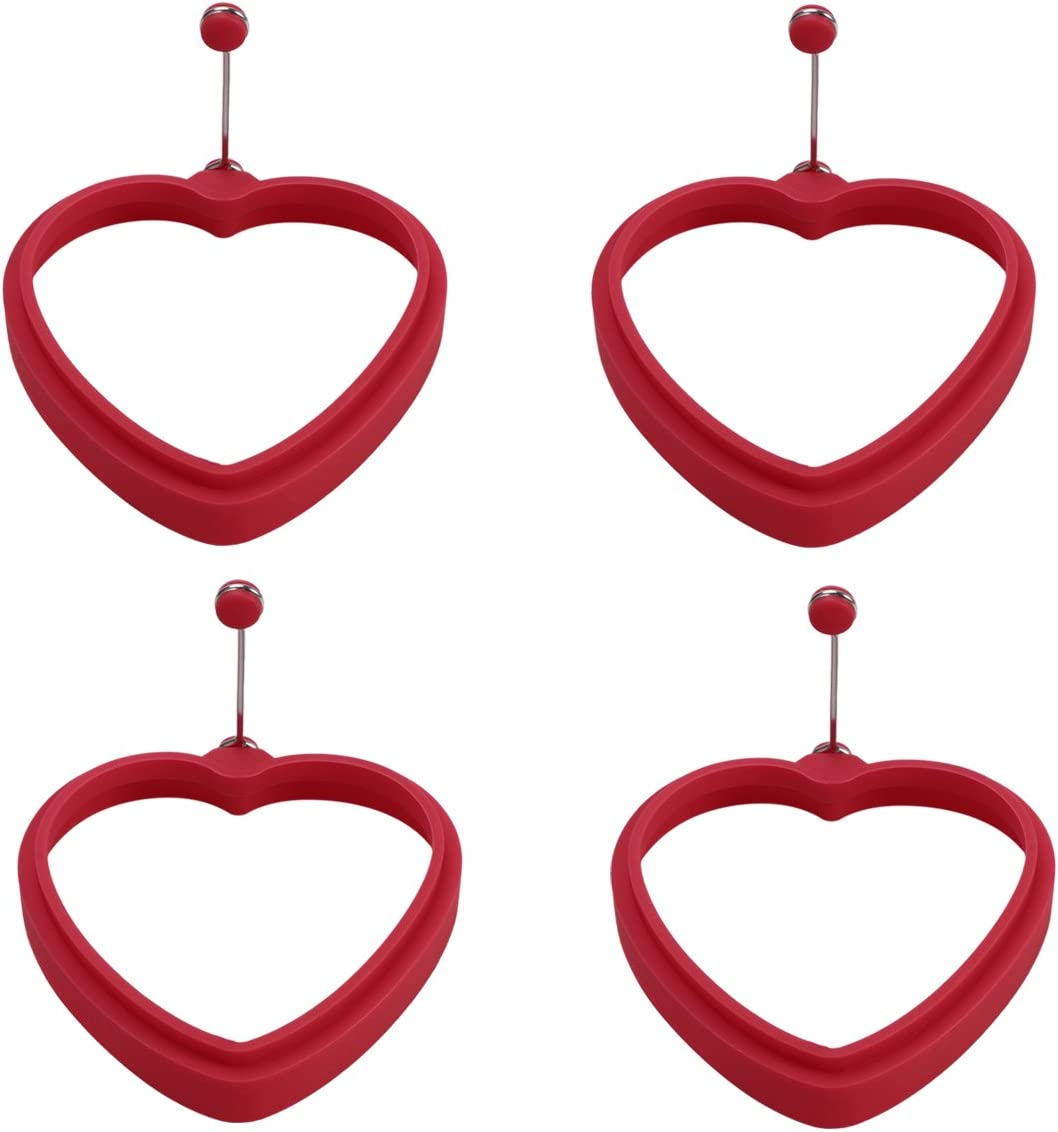 BESTONZON 4pcs Valentine's Day Columbus Mall Heart Silicone Rings Egg Fort Worth Mall Shaped P
