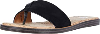 Yellow Box Women's Barann Flat Sandal, Black, 6.5