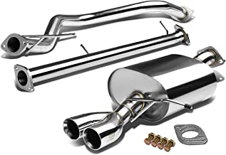 J2 Engineering Dual 2.75 inches Rolled Tip Catback Exhaust System for Ford Fiesta Mark VI